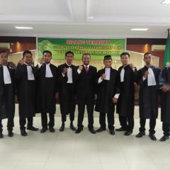 Sidang Pengambilan Sumpah Advokat Pengadilan Tinggi Sulawesi Tengah