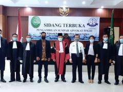 Pengambilan Sumpah Advokat PPKHI Ambon